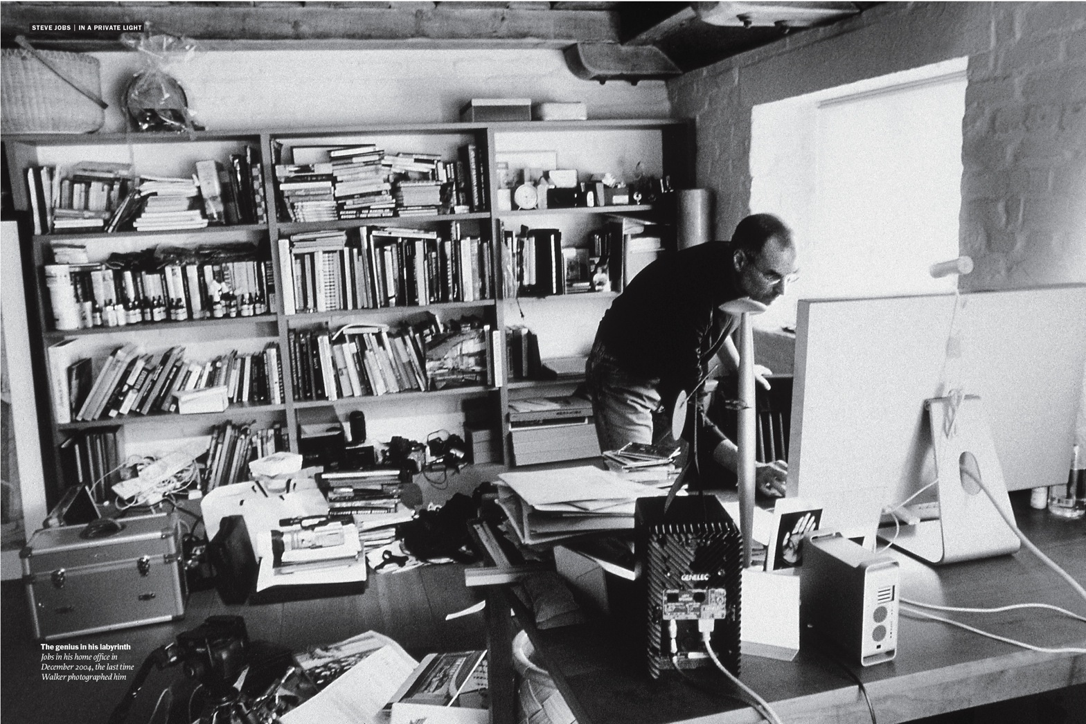 Mess and creativity: Steve Jobs cluttered home Office
