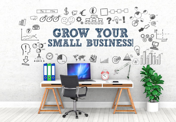Grow your small business ! / Office / Wall / Symbol